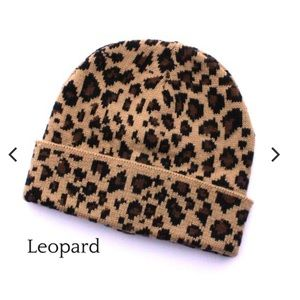 Animal Print Hat Beanie